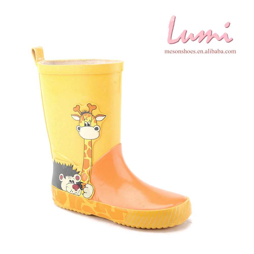 kids cute cartoon giraffe printed rain boots buy kids rainboots