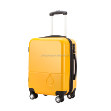 "2017 latest design 20"" inch draw-bar box suitcase high end zipper travel luggage"