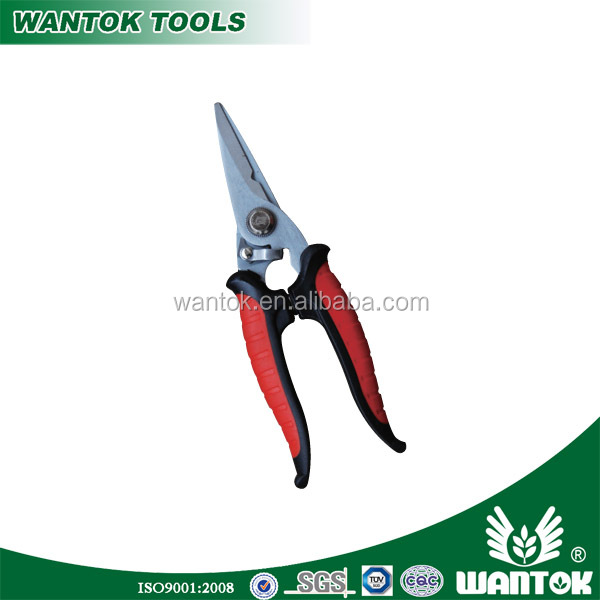 pruning shear steel blade with TPR grips