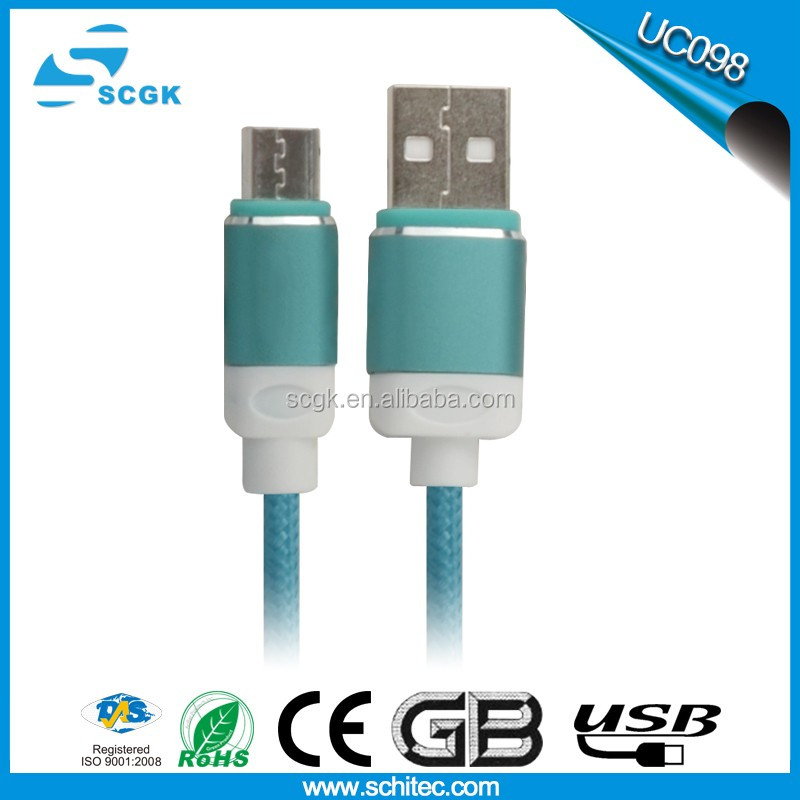 Schitec factory Mass Produced 3 In 1 Multifunction Round Nylon Braiede Wire Data Sync Usb Charging Cable
