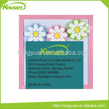 Portable high level flower decoration magnetic key holder memo board