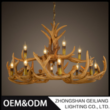 Decorative deer antler chandeliers lighting & pendant light for restaurant