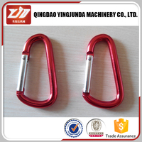 red color pear shaped bag snap carabiner hook