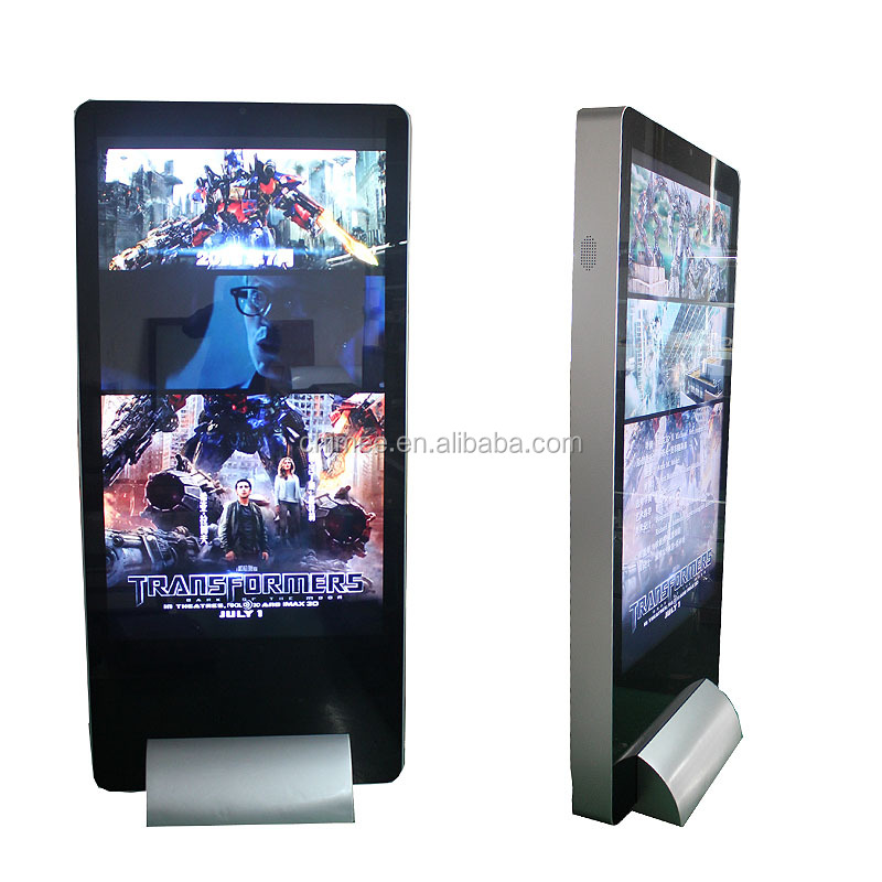 OEM 65 inch advertising stand / Lcd Totem / Android Digital Signage for shopping center