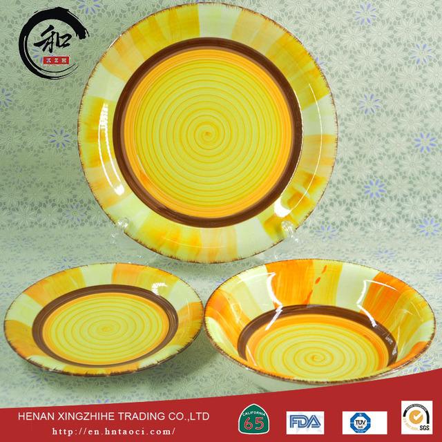 factory hot sales ceramic dinner set/cheap 16pcs striped dinnerware set with good price & 16pcs stripe dinnerware set_Yuanwenjun.com