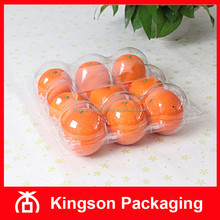 PET 9 Compartment Clear Plastic Packaging Box for Pomegranate Orange Fruit