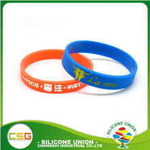 Cheap custom made couple debossed wristbands silicone