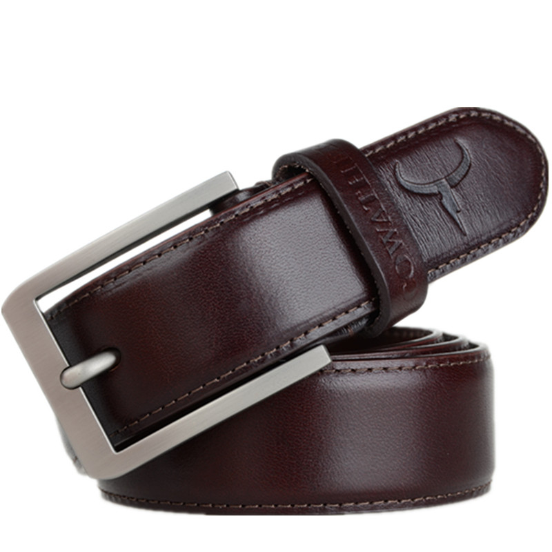 NEW 2017 mens cow genuine leather luxury strap belts for men / Fashion Leather Belt Factory Supplier