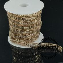 Top quality crystal strass rhinestone beaded bridal applique trims for wedding
