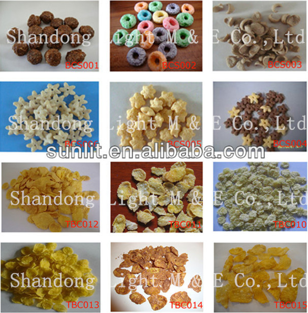 Hot sale Breakfast Cereal Rice Corn Puff Snacks Suger Coating Machine