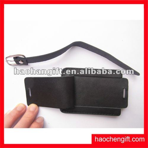 Spotlight!Factory price fashion leather travel label