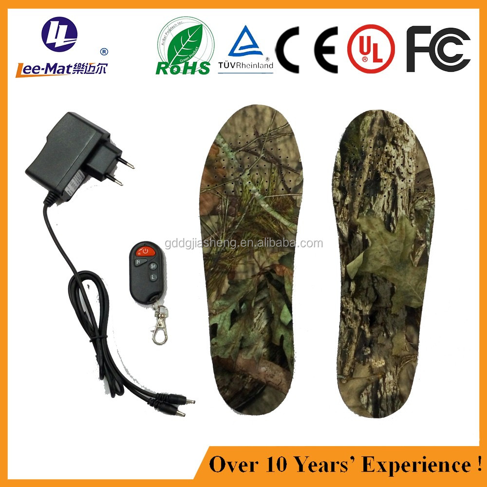 Battery foot warmer remote insole with heated