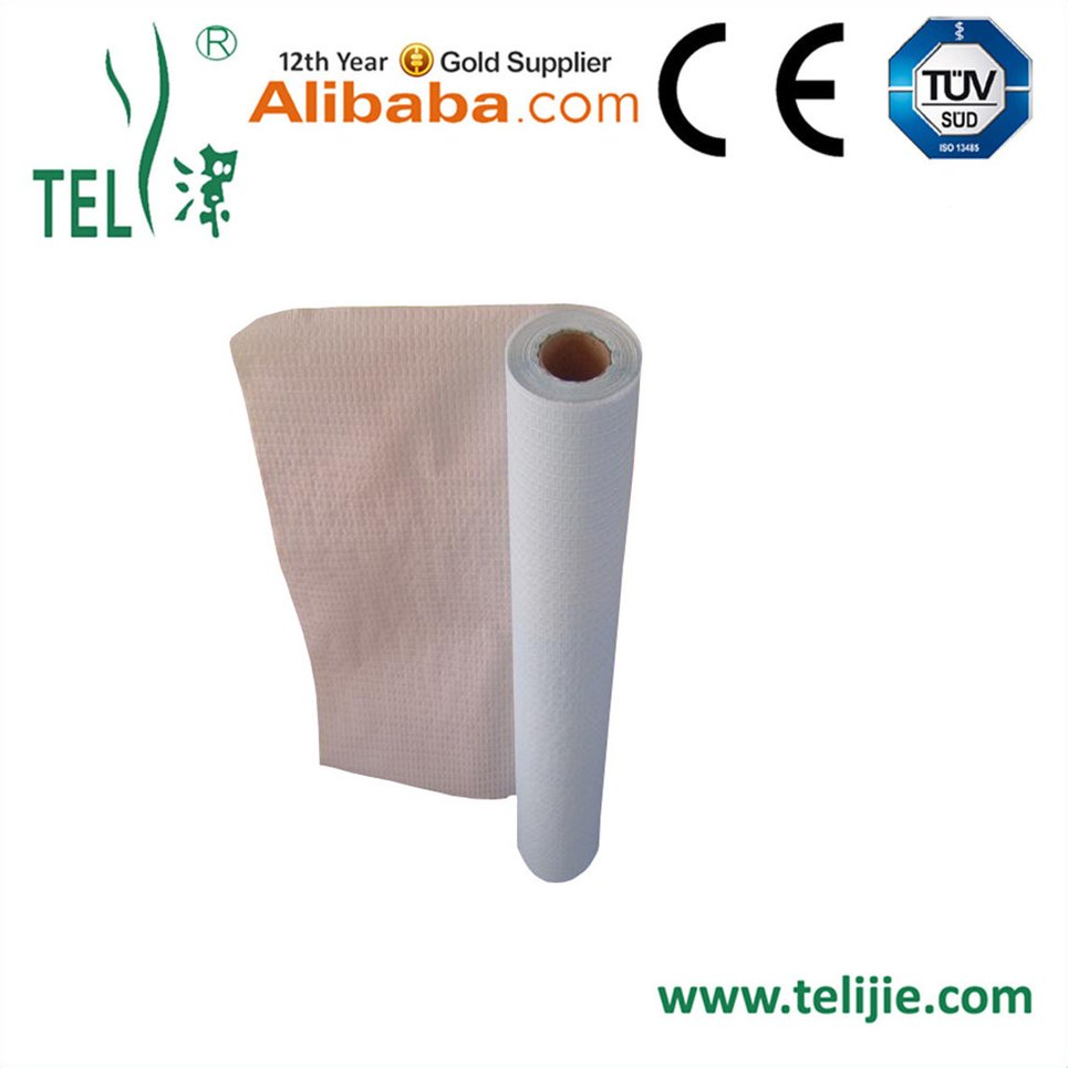 disposable medical examination paper bed sheet couch roll with customized logo for hospital