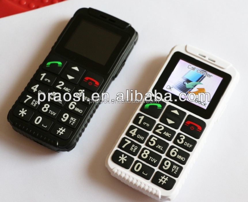 color screen seniors mobile phone sell low unit price / CE/ROHS / SOS/ FM/MP3/MP4/big button