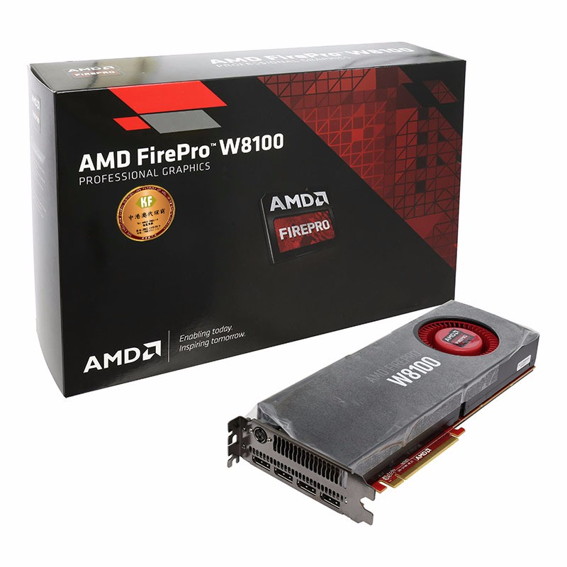 AMD FirePro W8100 8gb 512 bit ECC GDDR5 PCIe 3.0 x16 displayport 3D design graphic card