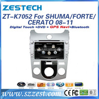For KIA SHUMA/FORTE/CERATO 2008 2009 2010 2011 2012 accessories double din car dvd player with gps