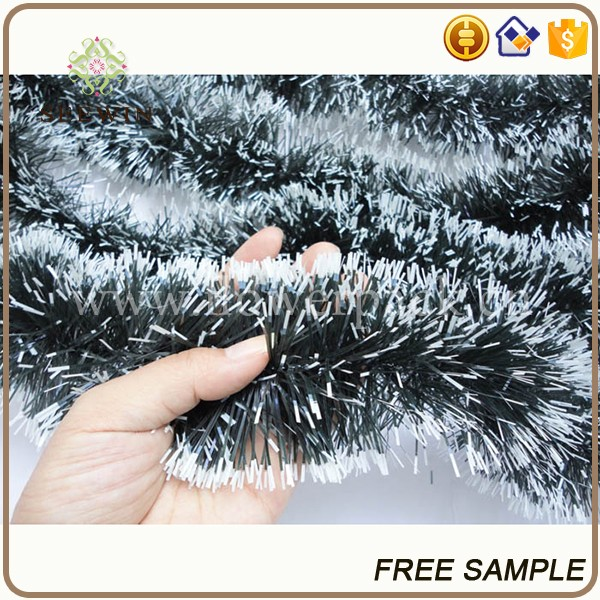 wholesale tree branch/leaf coloured ribbon christmas tree wreath