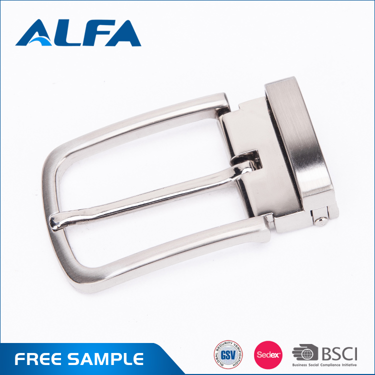 Alfa Quality Products Wholesale Custom Design Silvery Mens Pin Belt <strong>Buckles</strong> With Logo