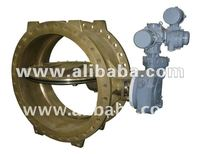Water Works Butterfly Valve, Flange Type, Electric Motor Operator