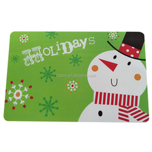 Christmas PP Printed Plastic Placemat, PP Tablemats For Party and Home Decoration