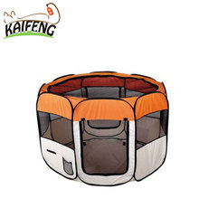 KaiFeng factory direct price indoor foldable pet activity 8 panels, customized dog playpen & kennel with soft cushion
