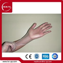 Disposable vinyl long sleeve gloves