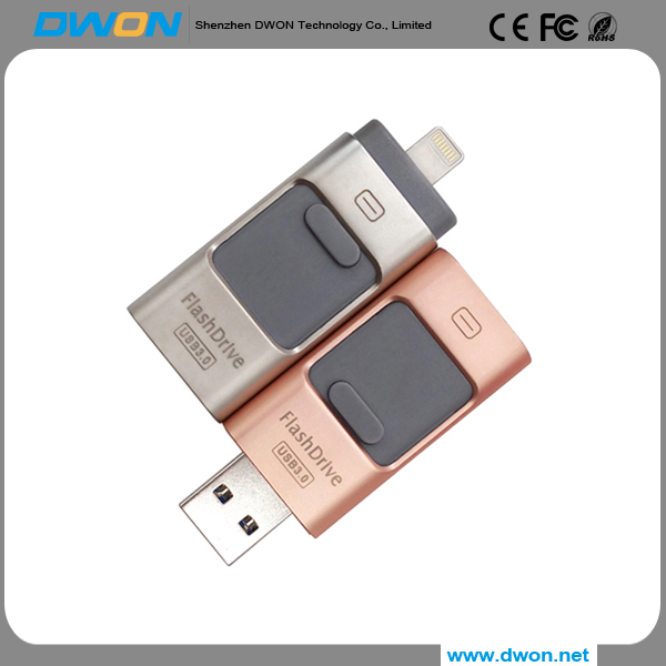 Wholesale price Customized logo free sample 8 16 32 64 128GB USB Flash Drive pen drive 3in1 U disk