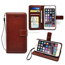 2016 hot selling Genuine Leather Flip Cover Phone Case for Apple iPhone 7 7 plus