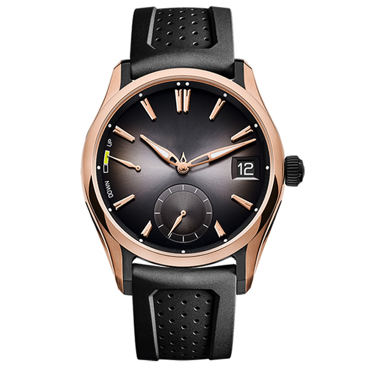 OEM/ODM Acceptable Fashion Designer Small MOQ Silicon Rubber Band Rose Gold Stainless Steel Case Sports Watch Men