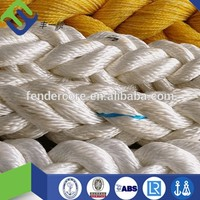 8 strand rope Polyester PET heavy duty military defence safety cable rope