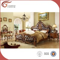 Luxury solid wood bed set A08