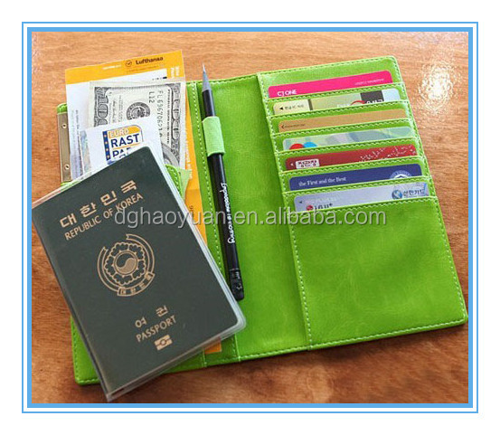 Custom leather passport card holder, wholesale men leather passport cover