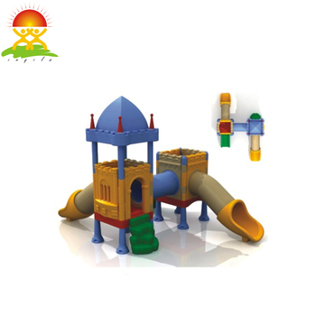 Indoor castle style kids plastic slides
