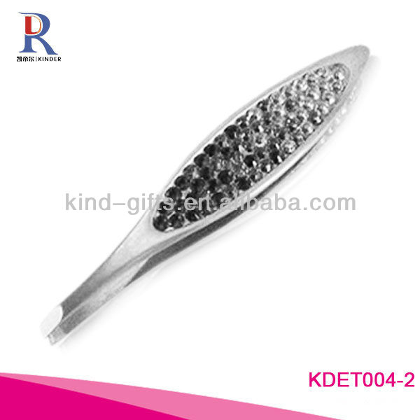 Professional Beautiful Girls Bling Crystal Print Logo Tweezers Manufactory