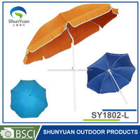 SY1802-L 1.8M promotion polyester windproof parasol garden sunshade flag beach umbrella