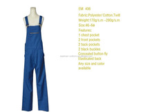 T/C twill EN 471 class 2 workwear overall bib pants trousers