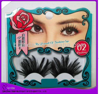 high quality fantastic exaggerated feather lashes wholesale