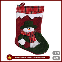 Factory direct Christmas decoration gift snowman socks wholesale