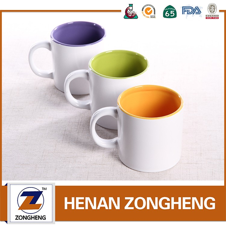 11OOZ Two Tone Color Glazed Mugs Coffee Mug With CE FDA LFGB SGS Wholesale