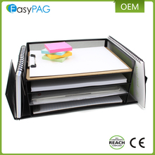 Office accessories modern design desk file holder metal paper organizer tray