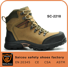 China high quality and comfort steel toe hiking shoes and men working shoes and safety boot factory SC-2218