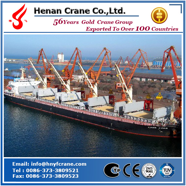 Yufei brand grab bucket four link portal crane used in seaside, port, factory, stock yard