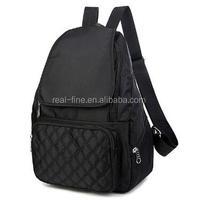 2017 Women Pretty Backpack Waterproof Nylon Lady Women's Daypacks Female Casual Travel Bags Mochila Solid Candy Color School Bag