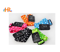 Dots Printed Luggage Strap with TSA Approved Combination Lock