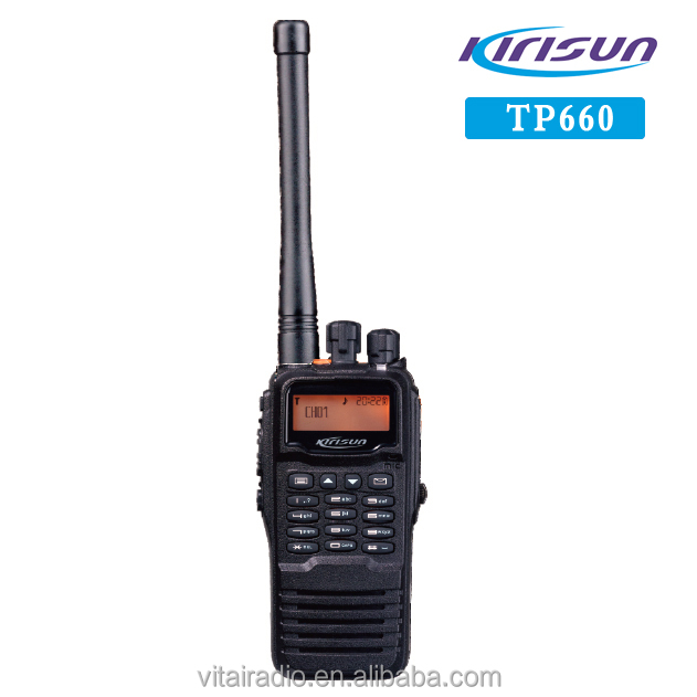 Kirisun TP660 Professional Handy Talky 2000mA Li-ion 1000CH 136-174MHz 400-470MHz DMR Digital Walkie Talkie