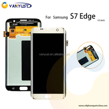 Factory price original lcd with AAA glass spare parts replacement lcd screen for samsung galaxy s7 edge