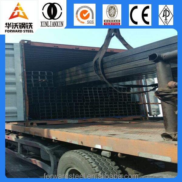 weld dark black square tubes hollow section iron pipe