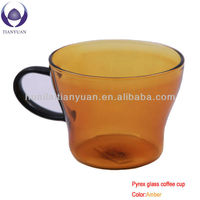 microwave safe 230ml pyrex glass coffee cup