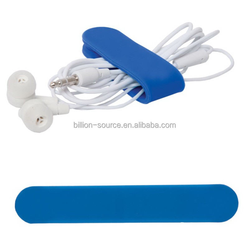 Magnetic silicone headphone cable winder