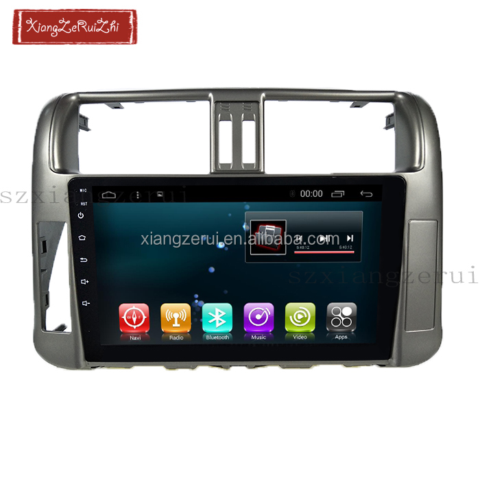 car dvd 10.2 inch Android 6.0 RAM2GB ROM32GB GPS Navigation For toyota prado 2010-2013 With video/Bluetooth/TV/3G/WIFI/USB/Radio
